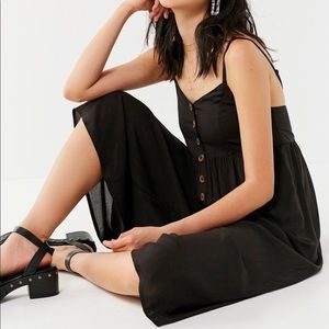 Urban Outfitters Black Tootsie Button Jumpsuit